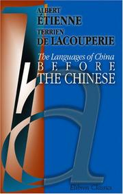Cover of: The Languages of China before the Chinese