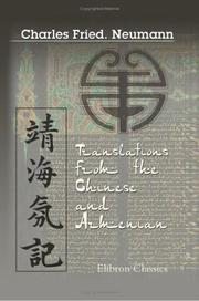 Cover of: Translations from the Chinese and Armenian