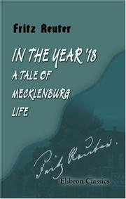 Cover of: In the Year '13: a Tale of Mecklenburg Life
