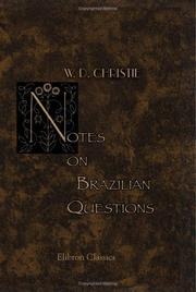Cover of: Notes on Brazilian questions