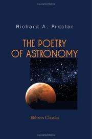 Cover of: The Poetry of Astronomy | Richard A. Proctor