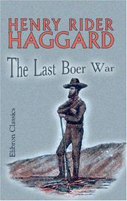 Cover of: The last Boer war
