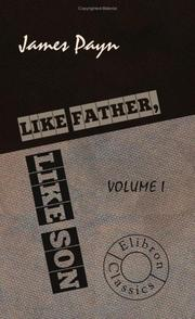 Cover of: Like Father, Like Son: Volume 1