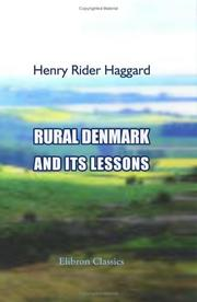 Cover of: Rural Denmark and Its Lessons | H. Rider Haggard