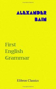 Cover of: First English Grammar