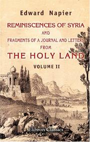 Reminiscences of Syria, and Fragments of a Journal and Letters from the Holy Land