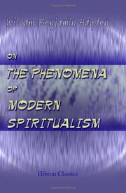 Cover of: On the Phenomena of Modern Spiritualism