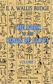 Cover of: The book of the kings of Egypt