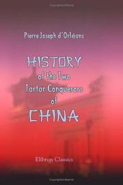 Cover of: History of the Two Tartar Conquerors of China