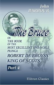 Cover of: The Bruce | Barbour, John