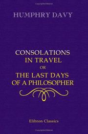 Cover of: Consolations in Travel Or The Last Days of a Philosopher