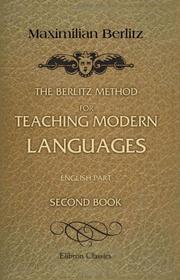 Cover of: The Berlitz Method for Teaching Modern Languages. English Part