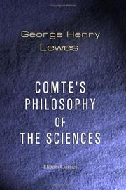 Cover of: Comte's philosophy of the sciences