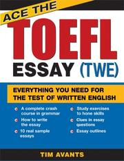Cover of: Ace the TOEFL Essay (TWE)