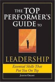 Cover of: The Top Performer's Guide to Leadership (Top Performers)