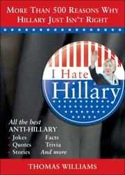 Cover of: I hate Hillary