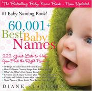 Cover of: 60,001+ Best Baby Names | Diane Stafford
