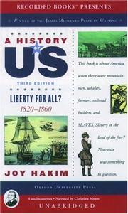 Cover of: A History of US: Book 5