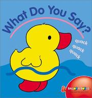 Cover of: What Do You Say?
