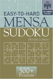 Cover of: Easy-to-Hard Mensa Sudoku