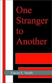 Cover of: One Stranger to Another