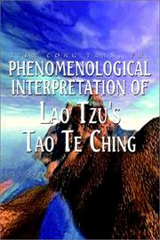 Cover of: Phenomenological Interpretation of Lao Tzu's Tao Te Ching