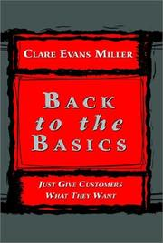 Cover of: Back to the Basics | Clare Evans Miller
