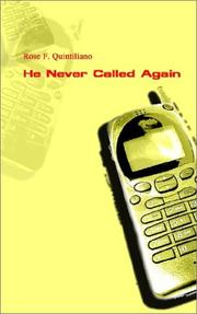 Cover of: He Never Called Again