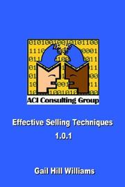 Cover of: Effective Selling Techniques 1.0.1 by Gail Hill Williams