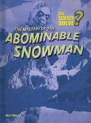 Cover of: The Mystery of the Abominable Snowman (Can Science Solve)