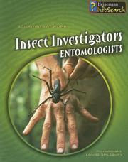 Cover of: Insect Investigators: Entomologists (Scientists at Work)