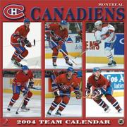 Cover of: Montreal Canadians 2004 16-month wall calendar