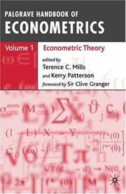 Cover of: Palgrave Handbook of Econometrics: Volume 1 |
