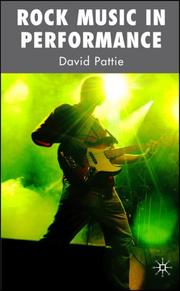 Cover of: Rock Music in Performance | David Pattie
