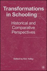 Cover of: Transformations in Schooling