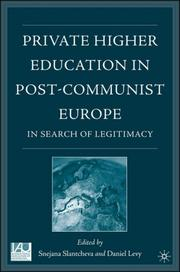 Cover of: Private higher education in post-communist Europe |