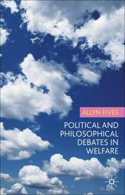 Cover of: political and philosophical debates in welfare
