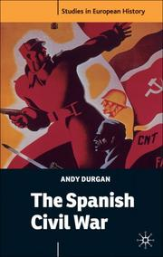 Cover of: The Spanish Civil War (Studies in European History)