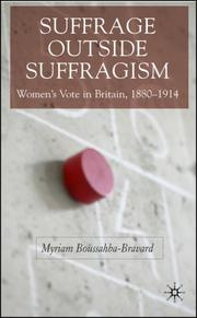Cover of: Suffrage outside Suffragism | Myriam Boussahba-Bravard