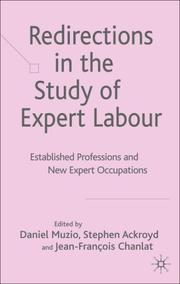 Cover of: Redirections in the Study of Expert Labour |
