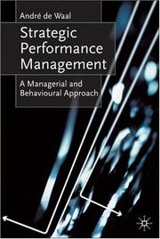 Cover of: Strategic Performance Management