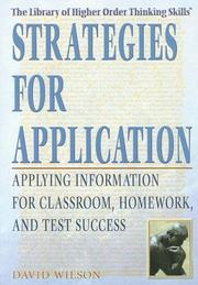 Cover of: Strategies for Application | David Wilson
