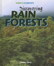 Cover of: Discovering Rain Forests (World Habitats) | Janey Levy
