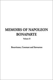 Cover of: Memoirs of Napoleon Bonaparte Volume 2