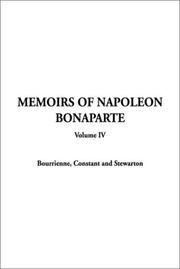 Cover of: Memoirs of Napoleon Bonaparte (Memoirs of Napolean Bonaparte