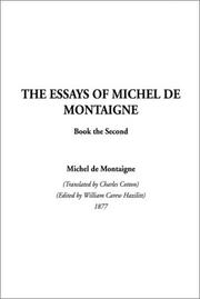 Cover of: The Essays of Montaigne, Book 2 (Essays of Montaigne)