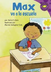 Cover of: Max Va a La Escuela