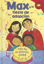 Cover of: Max y la fiesta de adopción (Max and the adoption day party)