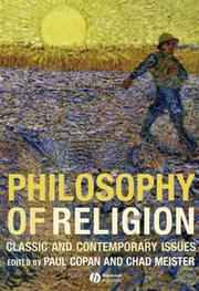 Cover of: Philosophy of Religion |