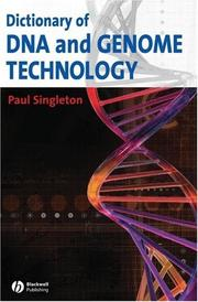 Cover of: Dictionary of DNA and Genome Technology